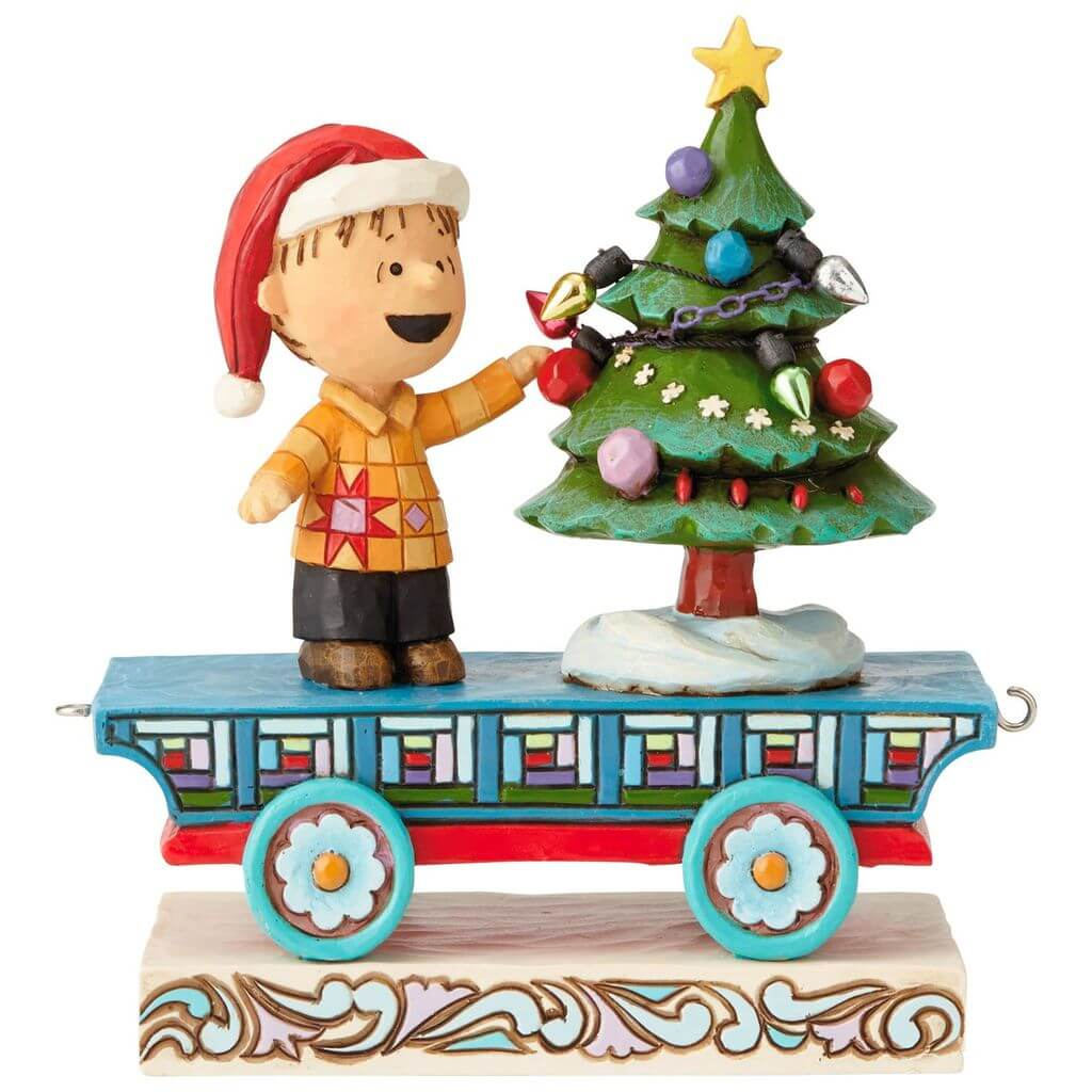 peanuts linus on christmas train