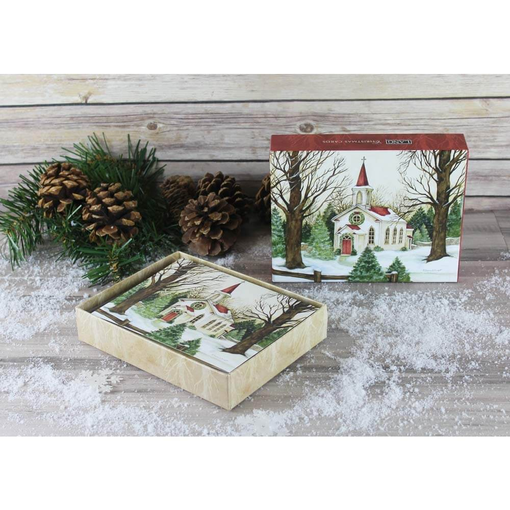 Woodland Church, Boxed Christmas Cards by Lang | Little Green Apple