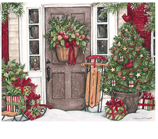 heart home christmas assorted two set christmas boxed cards by lang
